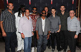 Justin Timberlake with business associates Kevin Ruder, Marc Taub, Free, Kickman Teddy, Elliott Ives, Charlie White.