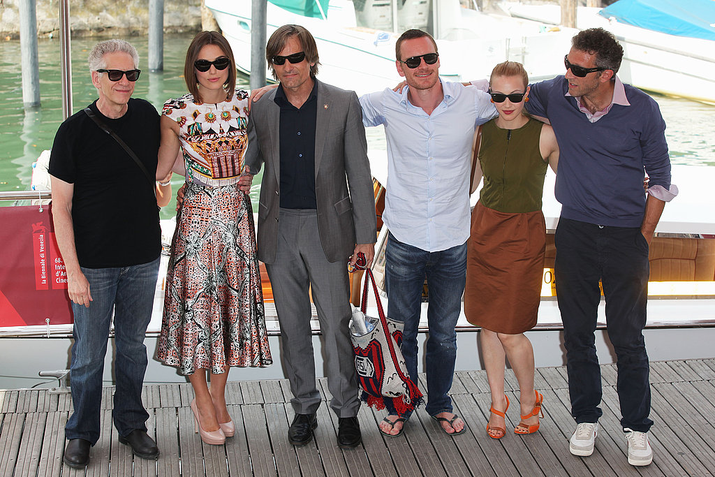Keira Knightley, Michael Fassbender, Viggo Mortensen, David Cronenberg, and Sarah Gadon in Venice for A Dangerous Method.