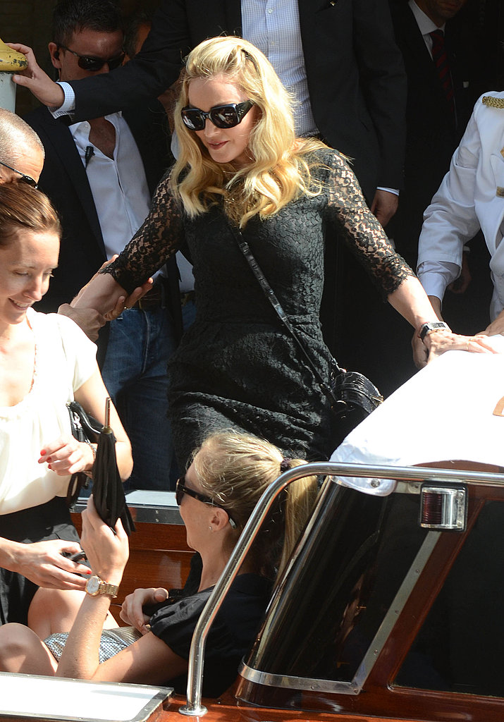 Madonna looking chic in black lace.
