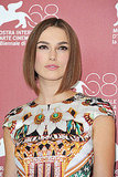 Keira Knightley's bobbed haircut.