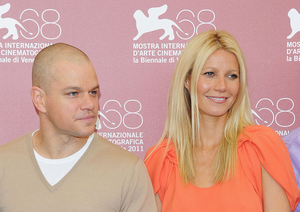 Matt Damon and Gwyneth Paltrow at a Contagion photo call in Venice.