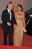 Matt and Luciana Damon premiere Contagion in Venice.