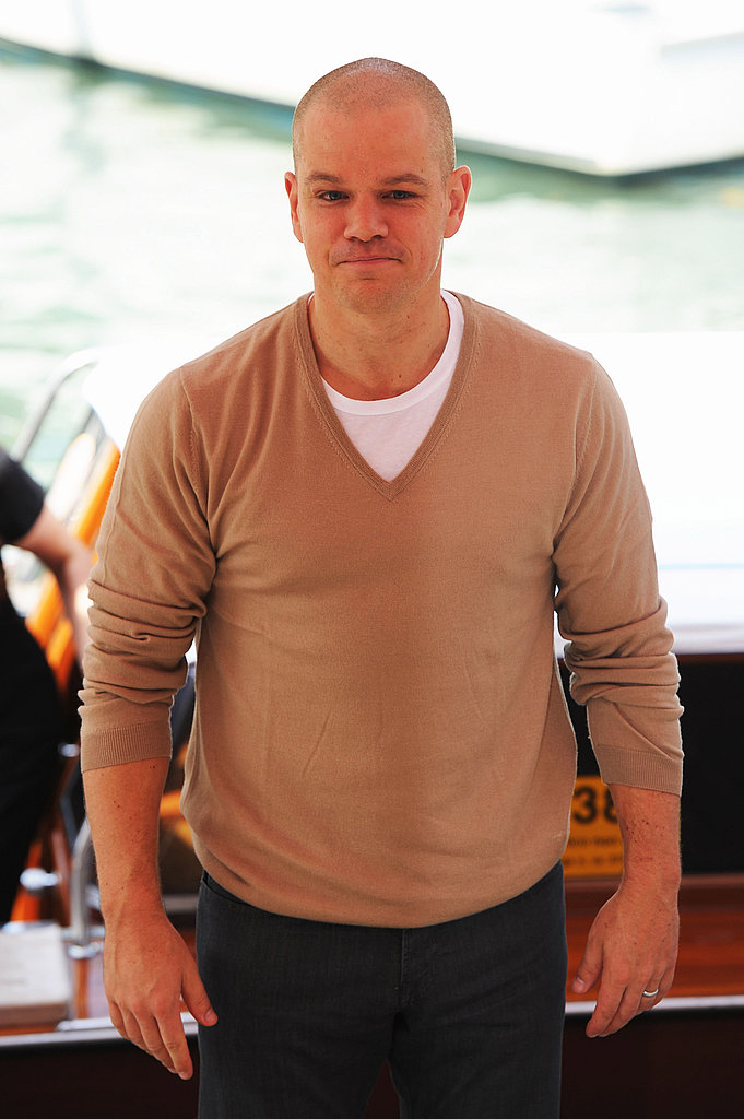 Matt Damon in Venice for Contagion.