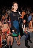 Emma Roberts attends the Jill Stuart Spring 2012 fashion show.