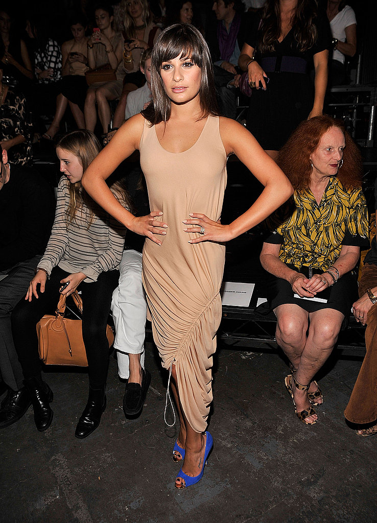 Lea Michele at Alexander Wang.