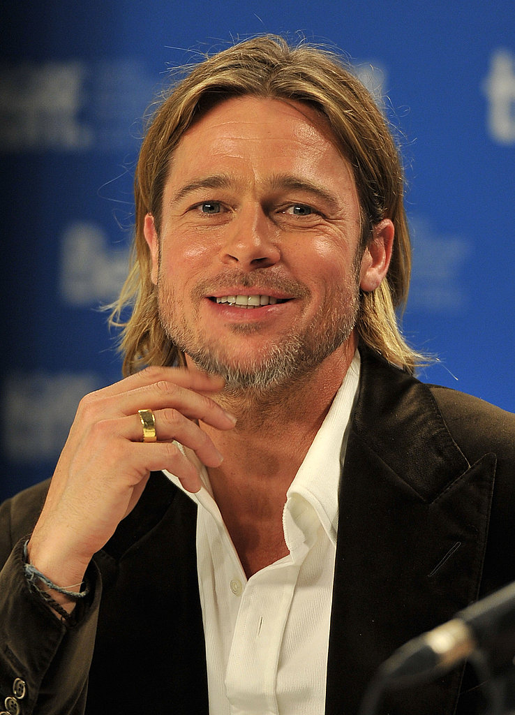Brad Pitt was all smiles at TIFF.