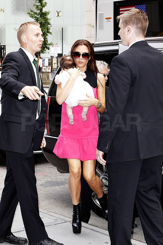 Victoria Beckham with daughter Harper Seven Beckham.