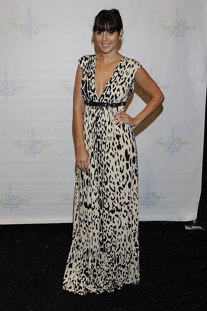 Jamie-Lynn Sigler rocked a spotted maxi at Tracy Reese.