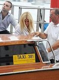 Gwyneth Paltrow leaves Venice.