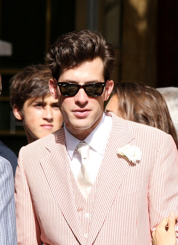 Mark Ronson on his wedding day.