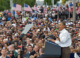 Obama gives a speech about jobs on Labor Day.