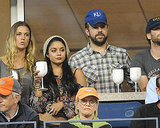 Vanessa Hudgens with Jason Sudeikis at the US open.