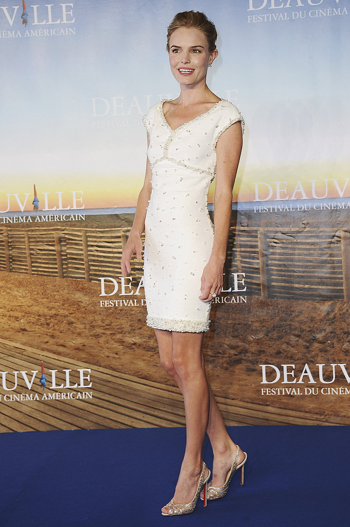 Kate Bosworth in white at the premiere of Another Happy Day.