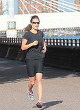 Pippa loves to jog, and took a scenic run in London during July.