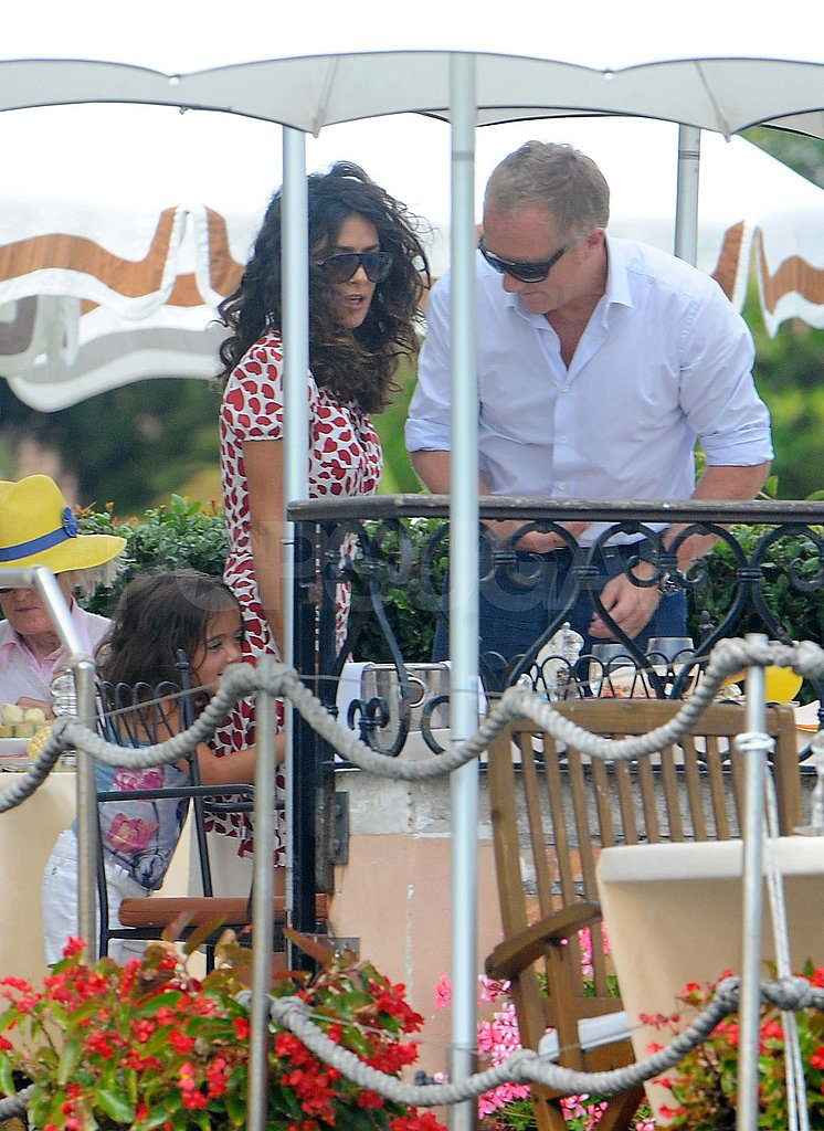 Salma Hayek and François-Henri Pinault with Valentina in Venice.