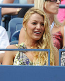 Blake Lively at the US Open Monday.