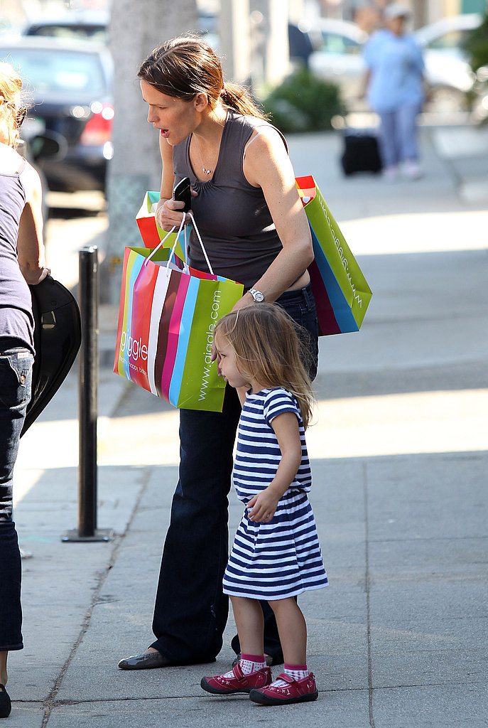 Pregnant Jennifer Garner and Seraphina Affleck in LA.