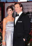 Colin Firth on the red carpet for Tinker, Tailor, Soldier, Spy.Colin Firth with wife Livia in Venice.