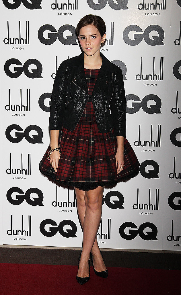 Emma Watson at the GQ Men of the Year Awards.