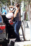 Jennifer Garner and Seraphina Affleck in LA.