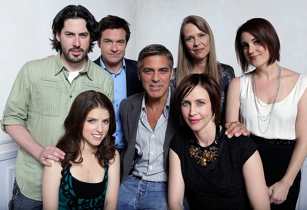 Up in the Air director Jason Reitman posed for a portrait with Anna Kendrick, Jason Bateman, George Clooney, Amy Morton, Vera Farmiga, and Melanie Lynskey during the 2009 film festival.