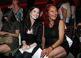 Anne Hathaway and stylist Patricia Field smiled big at Angel Devil in  February 2007.