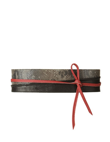 Zara Patchwork Sash Belt ($60)