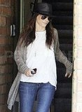 Sandra Bullock leaves her LA office.