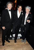 Johnny Depp dressed up with Keith Richards and Tom Stoppard.