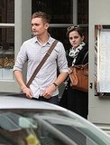 Emma Watson eats out in London.