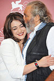Valentina Lodovini embraces Diego Abatantuono at the Cose dell'Altro Mondo and A Chjana photo call.