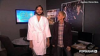 Ashton Kutcher Naked on Ellen and Talking Anniversary Video