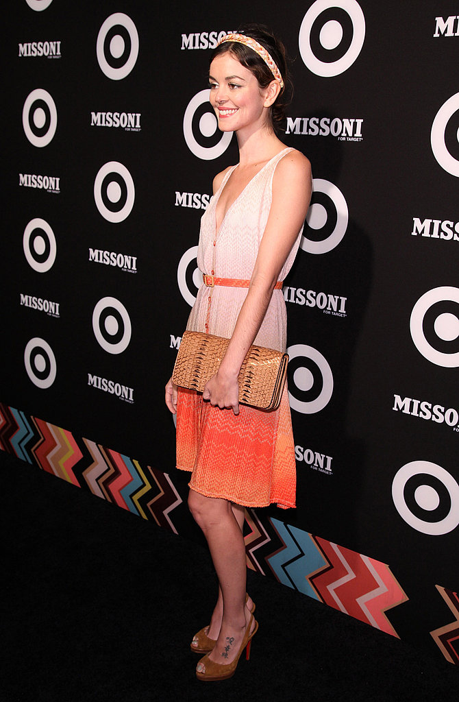 Nora Zehetner looked pretty in orange.