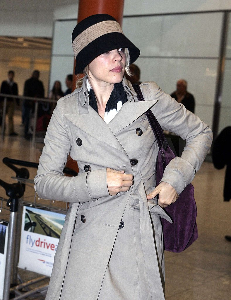 Rachel McAdams landed at Heathrow.