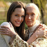 Angelina Jolie poses with Jane Goodall.