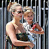 Jessica Alba and Honor Warren Go on a School Run Pictures