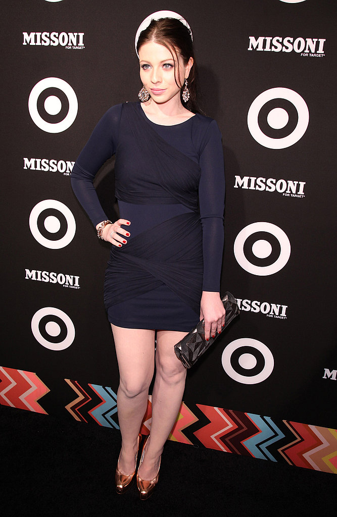 Michelle Trachtenberg wore a short, tight dress.