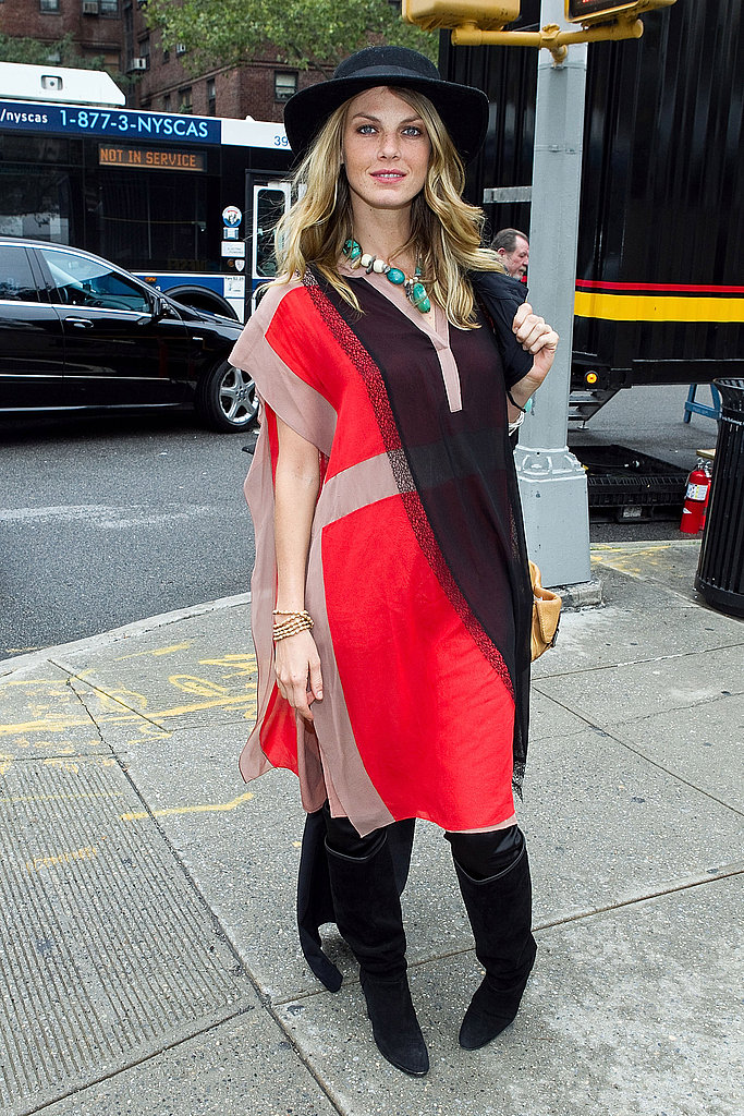 Angela Lindvall at NYFW.