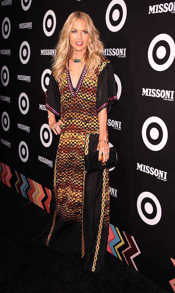 Rachel Zoe went with a dramatic maxi dress.