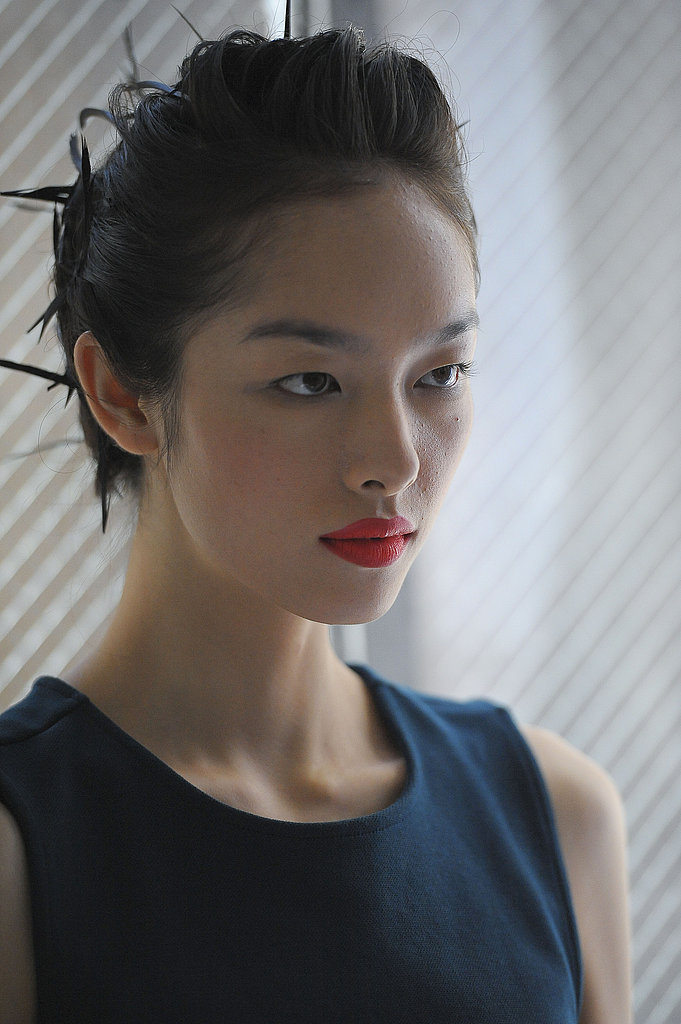 Backstage at Jason Wu Spring 2012