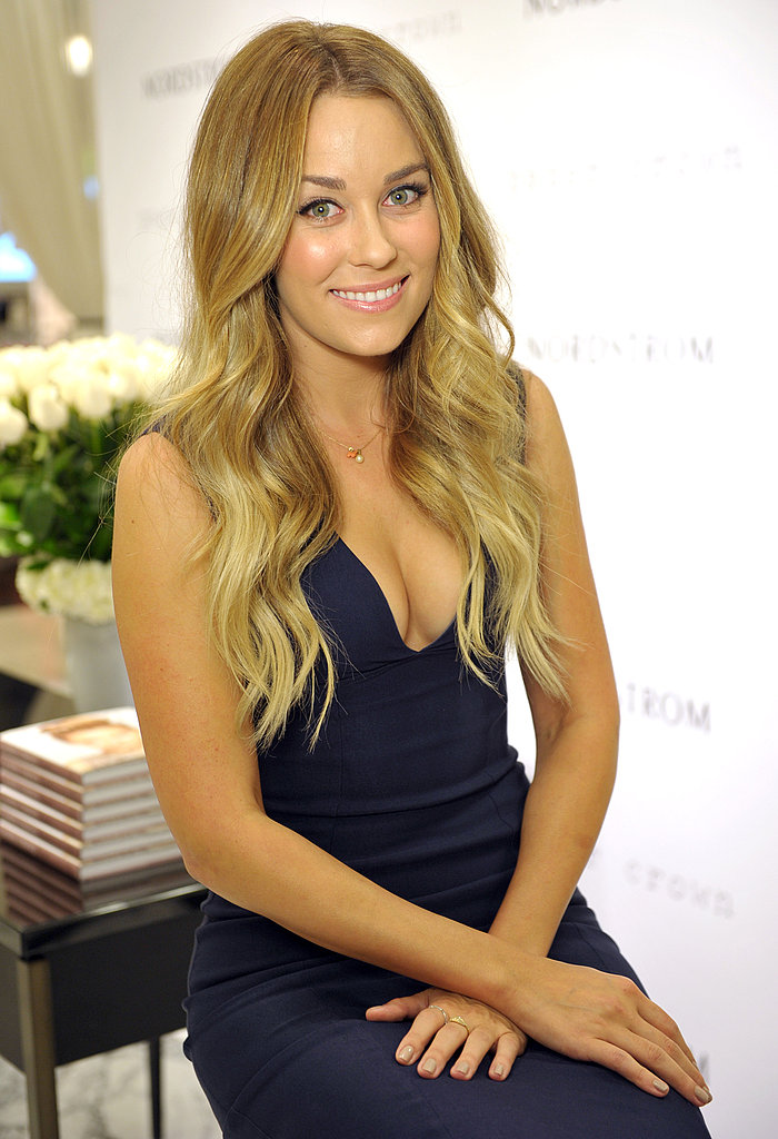 Lauren Conrad waiting to sign books.