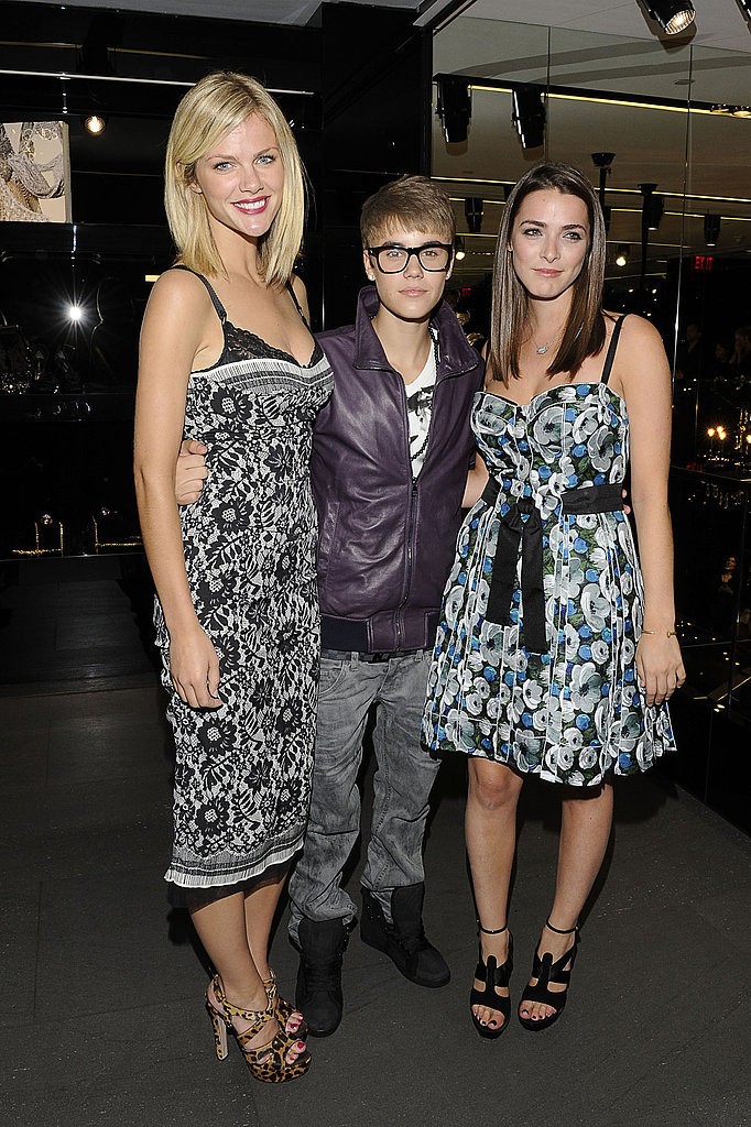 Justin Bieber, Brooklyn Decker, Bee Shaffer at Dolce & Gabanna.