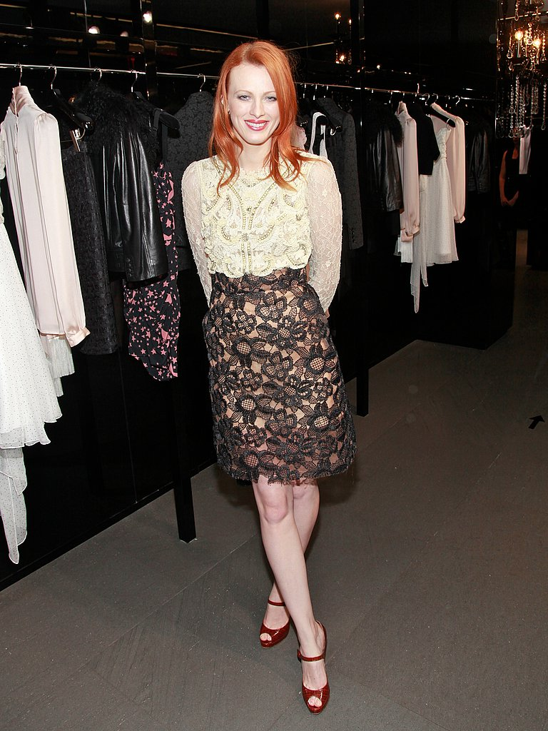 Karen Elson during Fashion Week.