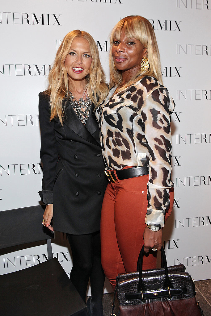 Rachel Zoe and Mary J. Blige hugged at Intermix.
