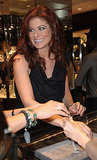 Debra Messing tried on jewelry at Fred Leighton.