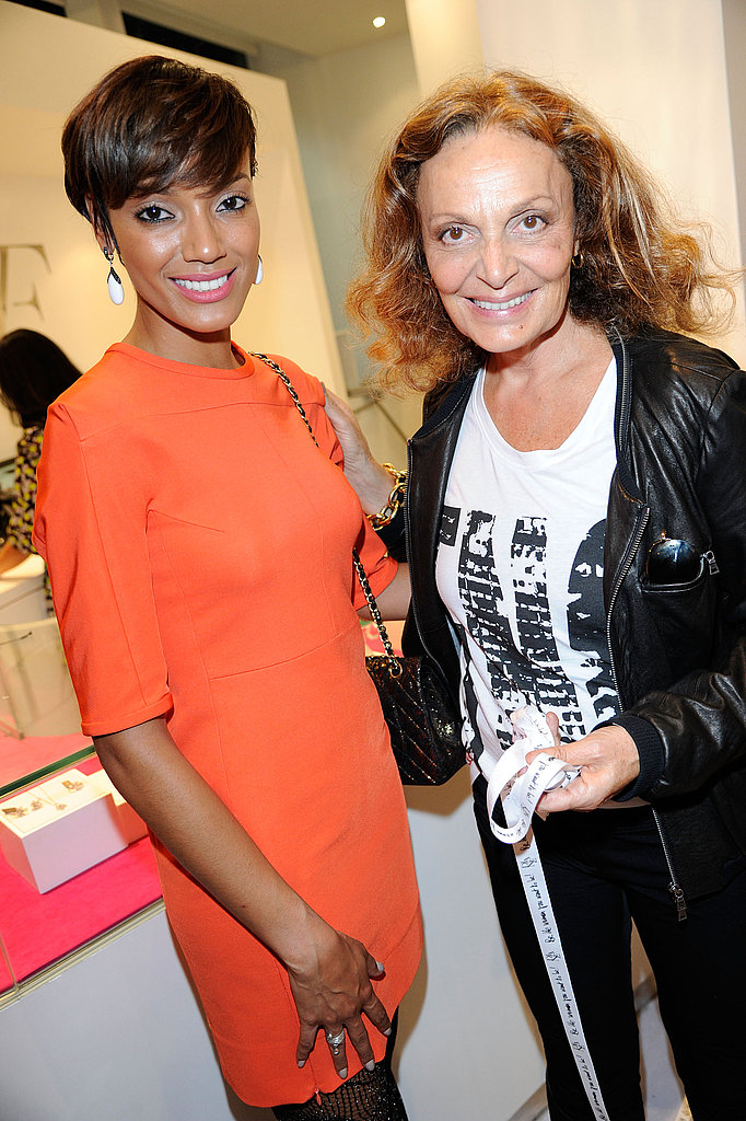 Selita Ebanks spent Fashion's Night Out with Diane von Furstenberg.