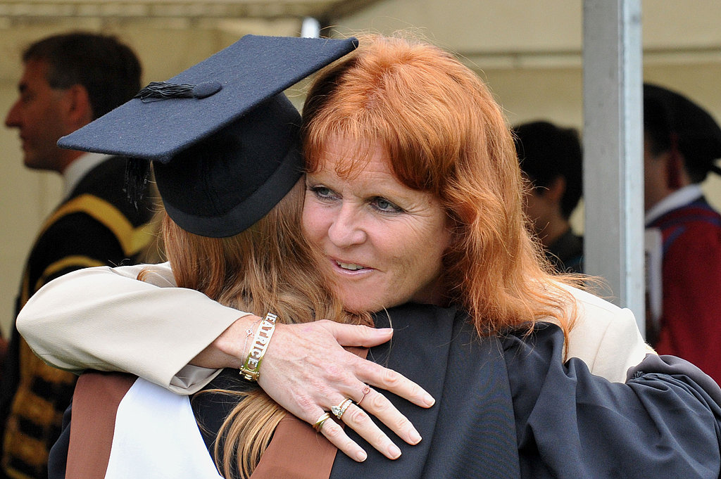 Sarah Ferguson hugs daughter Princess Beatrice.