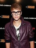 Justin Bieber in glasses on Fashion's Night Out.