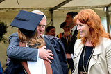 Prince Andrew and Sarah, Duchess of York, with Princess Beatrice following her graduation ceremony at Goldsmiths College.