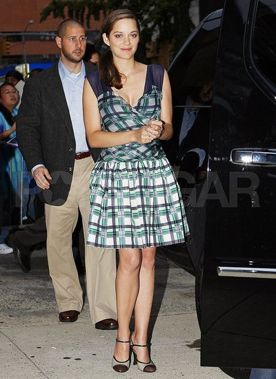 Marion Cotillard in NYC for The Daily Show.